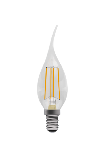 Bell 4W Pro LED filament bent tip candle 05026