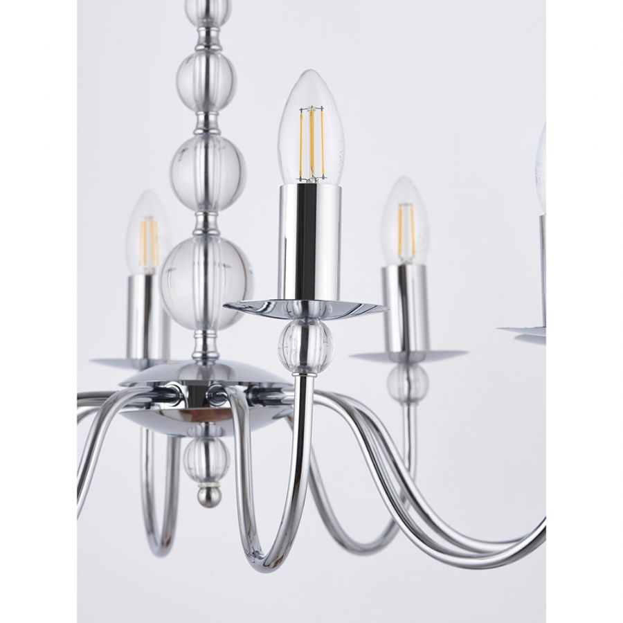 Endon Lighting Parkstone 8 Light Pendant 2013-8CH