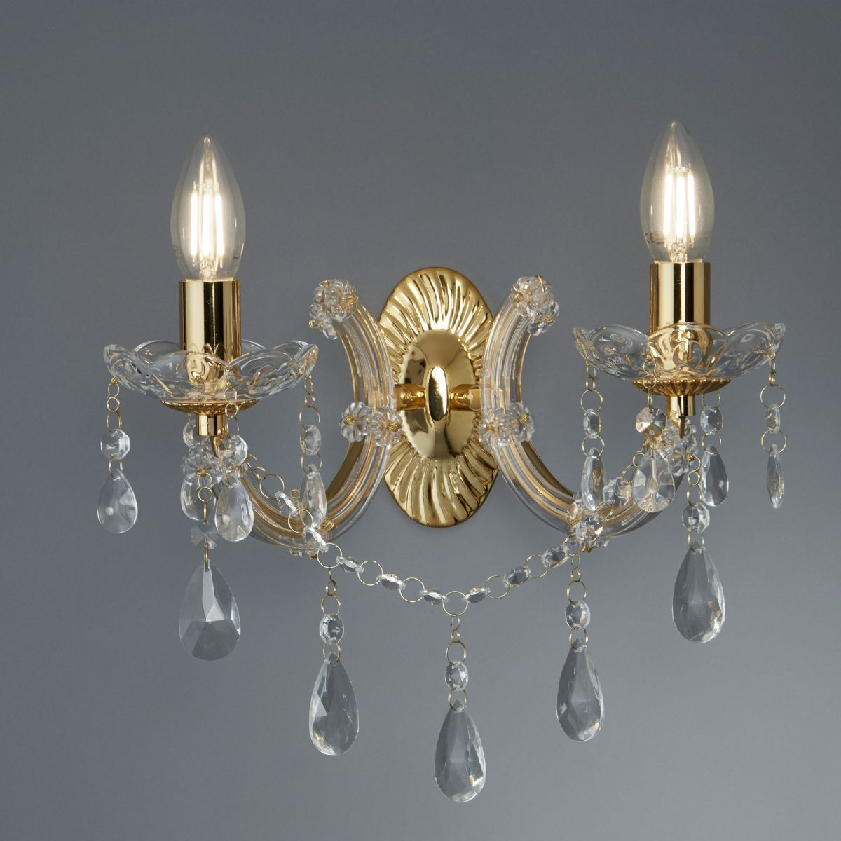 Marie Therese Wall Lights Chrome : Searchlight Marie Therese wall light 399-2 699-2