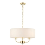 Endon Lighting Nixon 3lt pendant brass 70560