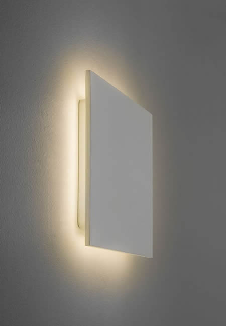All Square Wall Lights : Astro Eclipse Square 300 LED wall light 7248