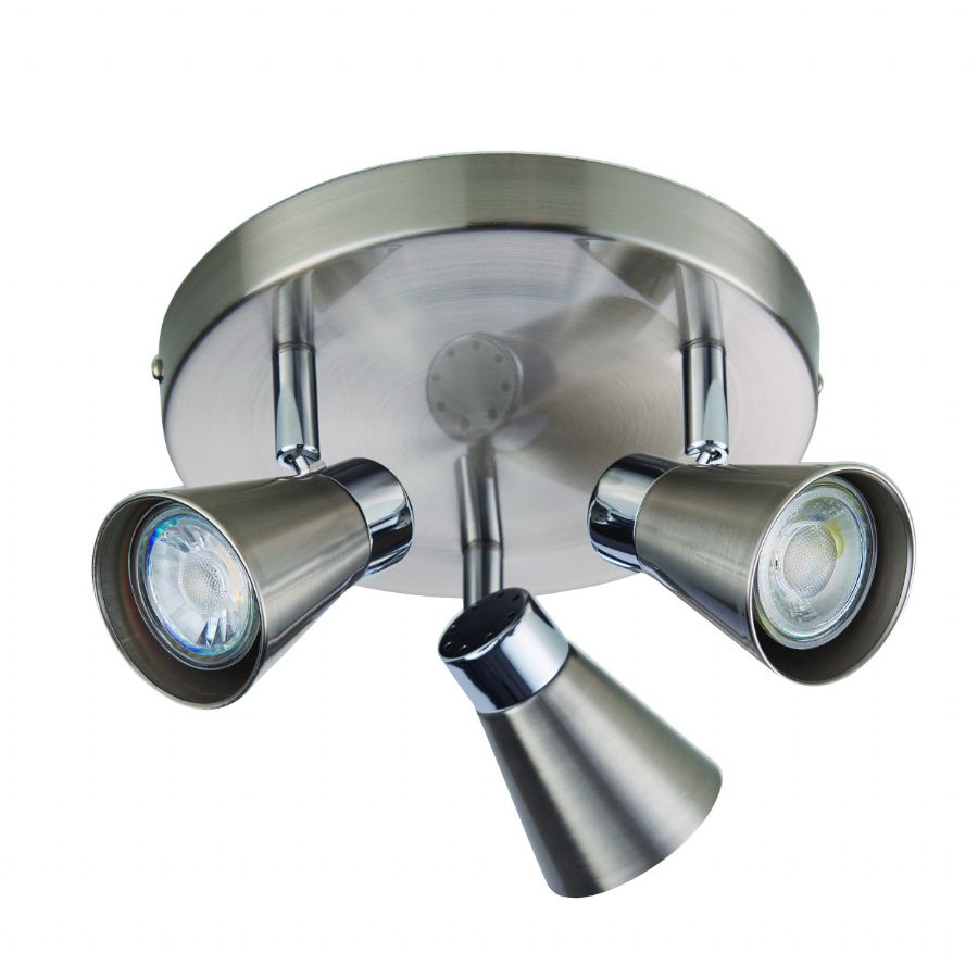 Endon Lighting Kai 3lt Round Spotlight 76204