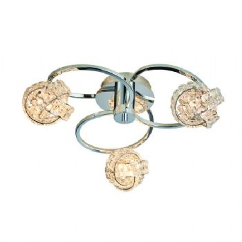 Endon Lighting Talia 3lt semi flush 76285