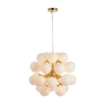 Endon Collection Oscar 28 Light Pendant Brushed Brass 76499