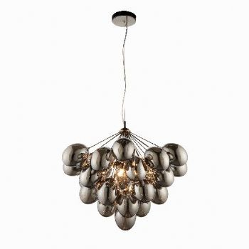 Endon Collection Infinity 6 Light Pendant Chrome Black 80199