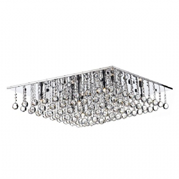 Dar Lighting Abacus 8 light crystal flush ABA4750