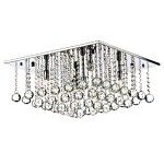 Dar Lighting Abacus 5 light crystal flush fitting ABA5050