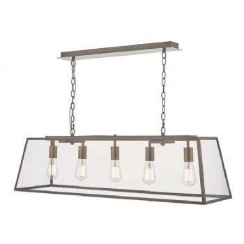 Dar Lighting Academy 5lt Pendant Bar Copper ACA0564