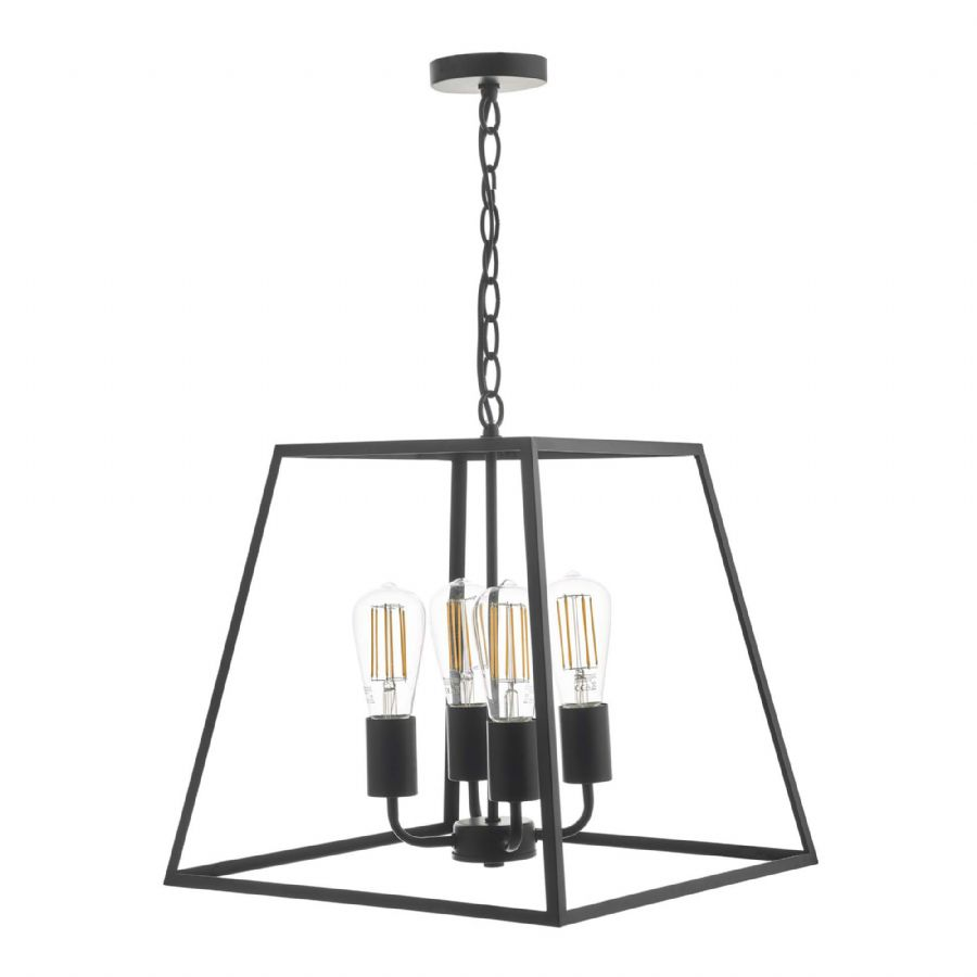 Dar Lighting Academy 4 Light Pendant ACA8622