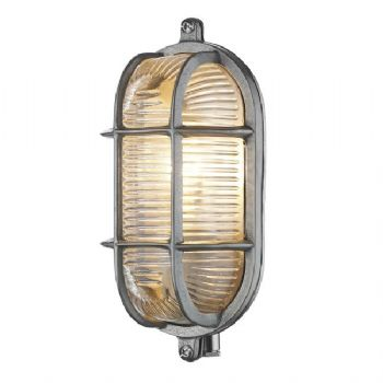 David Hunt Admiral small oval wall light nickel ADM5238