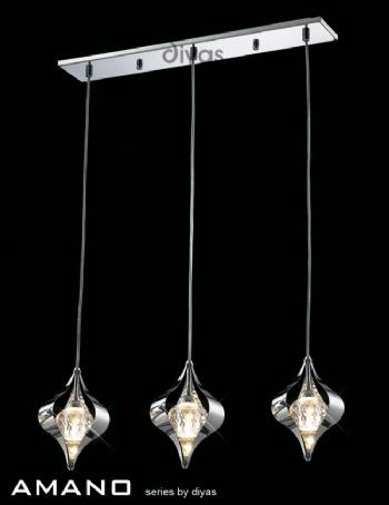 Diyas Amano 3 light bar pendant IL30583