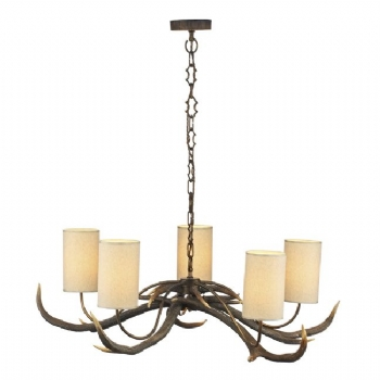 David Hunt Antler 8 Light chandelier with shades