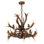 David Hunt Antler 9 Light Tiered pendant