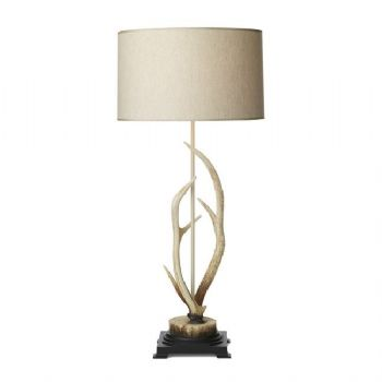 David Hunt Antler table lamp bleached ANT4215