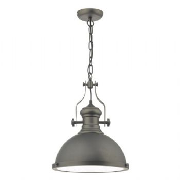 Dar Lighting Arona 1lt pendant pewter aro0167