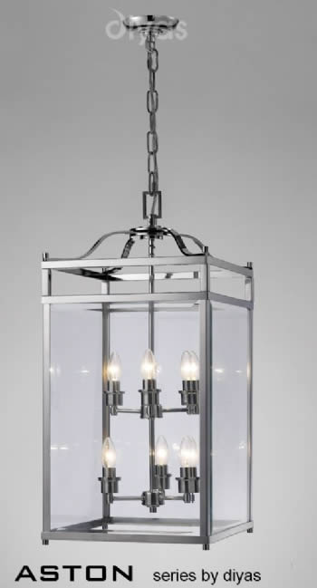 Diyas Aston 6 light lantern IL31104