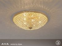 Diyas Ava 9 light flush IL30189