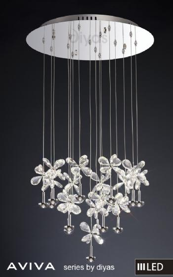 Diyas Aviva LED 16 light pendant IL31146
