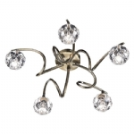 dar lighting bab5475 5 light semi flush