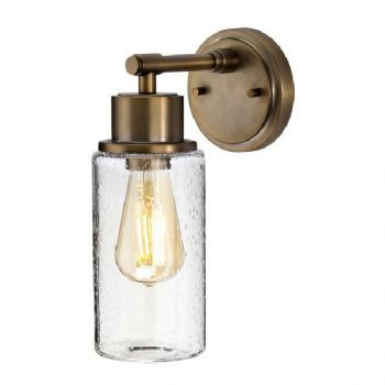 Elstead Morvah bathroom wall light brushed brass BATH/MORVAH1 BB