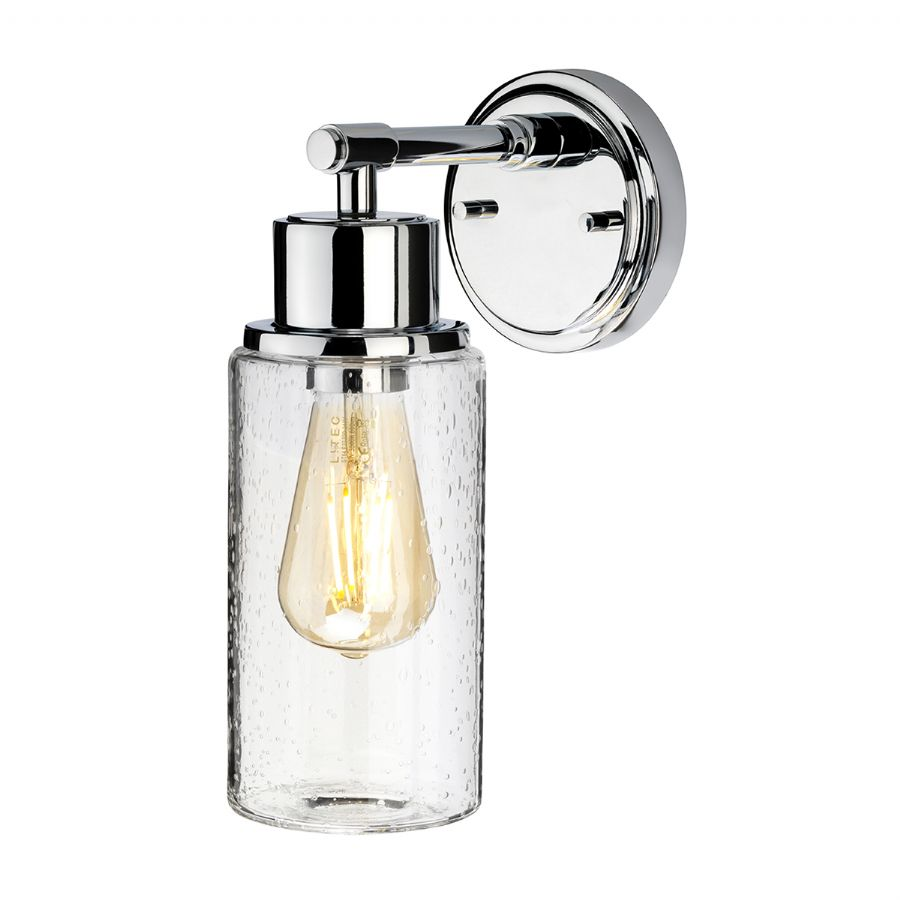 Elstead Morvah bathroom wall light polished chrome BATH/MORVAH1 PC