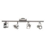 Dar Lighting Bauhaus 4 light spot bar BAU8446