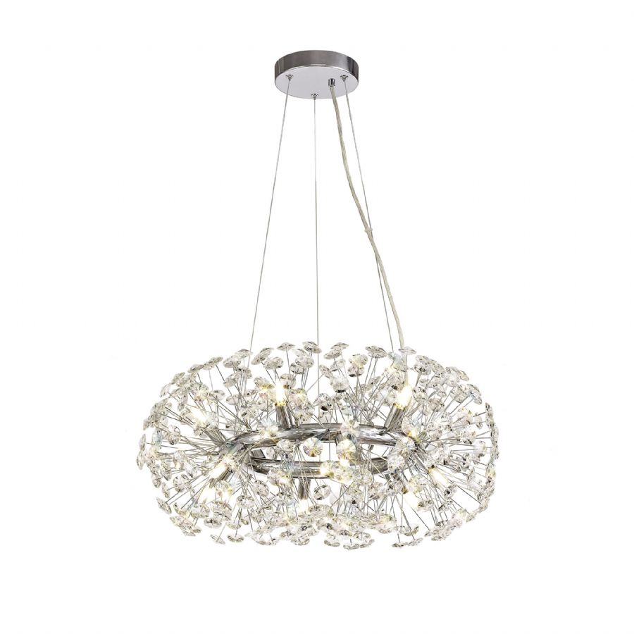 lite spot infinity collection iconic 8 light semi flush chrome