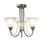 Dar Lighting Boston 3 light semi flush BOS03