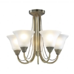 Dar Lighting Boston 5 light semi flush BOS05