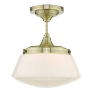 Dar Lighting Caden Ceiling Light Antique Brass CAD0175