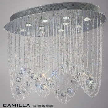 Diyas Camilla oval 10 light IL31392