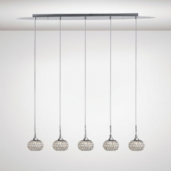 Diyas Chelsie 5lt pendant bar chrome il31507