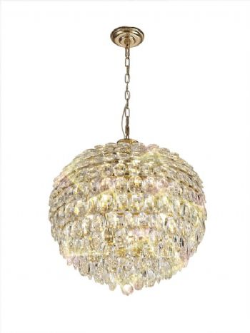 Diyas Coniston 9 light pendant french gold