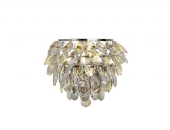 Diyas Coniston wall light chrome