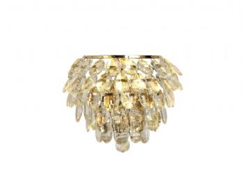 Diyas Coniston wall light french gold