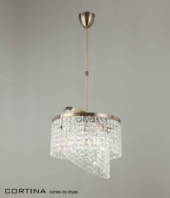 Diyas Cortina 6 light pendant IL30093