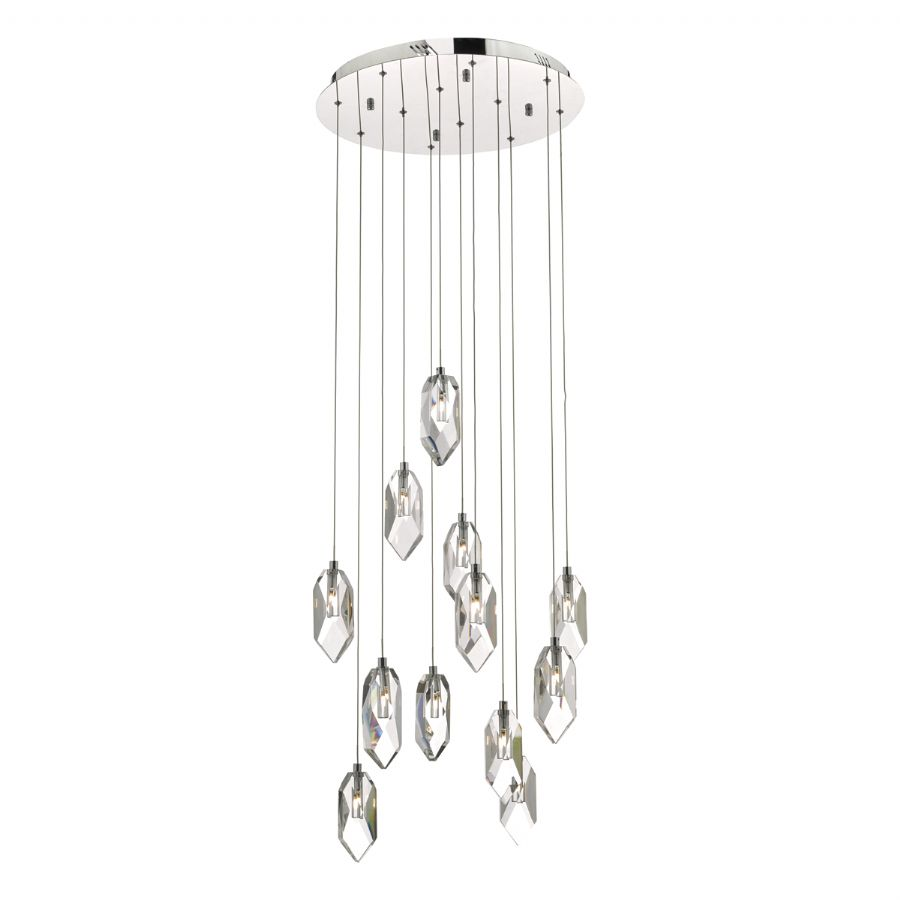 Dar Lighting Crystal 12 light cluster pendant CRY1250