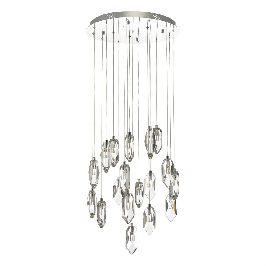 Dar Lighting Crystal 18 light cluster pendant CRY1850
