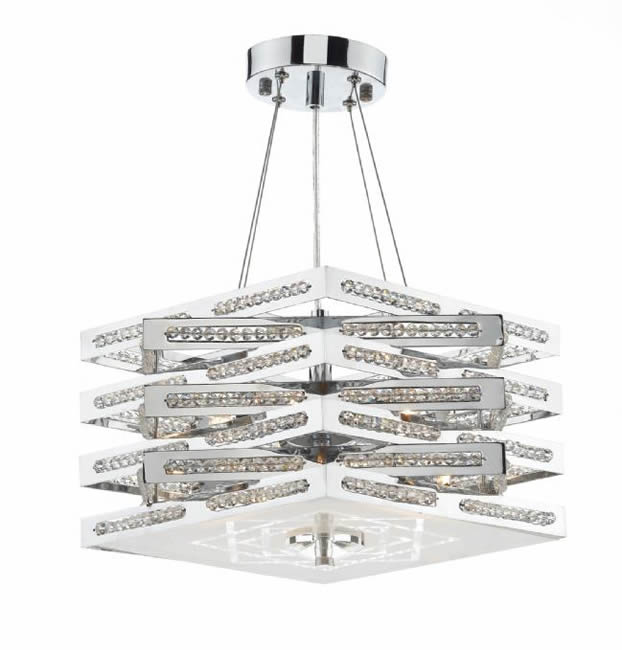 Dar Lighting Cube 5 light pendant CUB0550