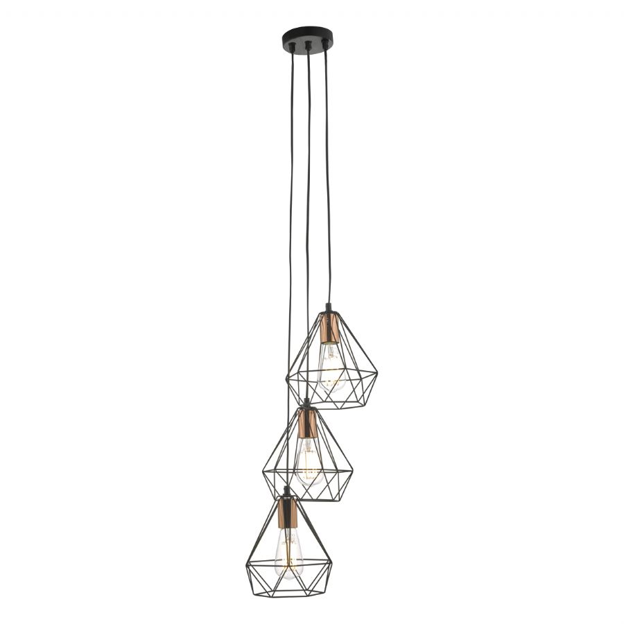 Dar Lighting Deyon 3 light cluster pendant DEY0322