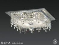 Diyas Esta 4 light square flush IL30262