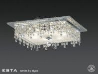 Diyas Esta 6 light square flush IL30264