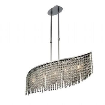 Diyas Fabio 5 Light Telescopic Pendant IL30574