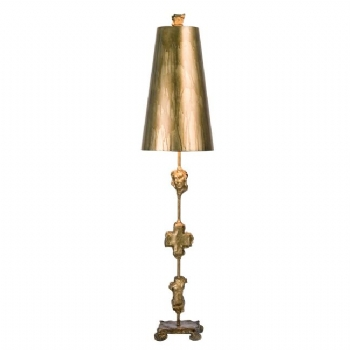 Elstead Flambeau Fragment table lamp gold