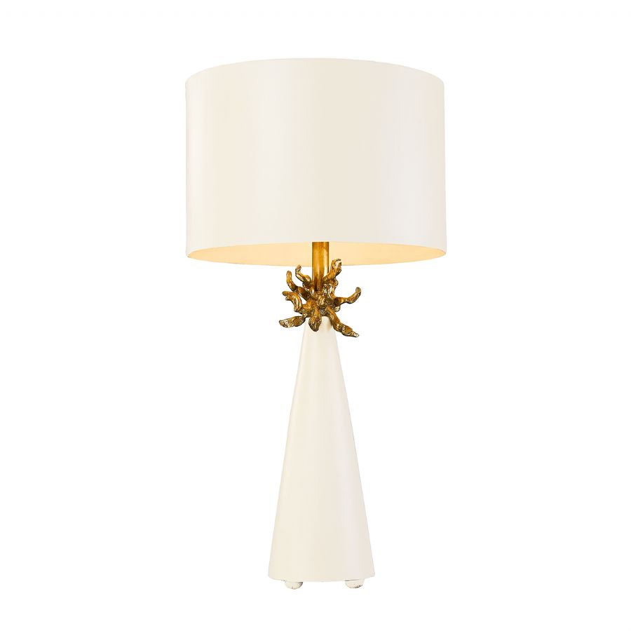 Elstead Flambeau Neo White table lamp FB/NEO/TL FR WHT
