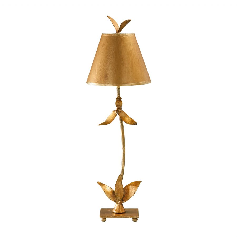 Elstead Flambeau Red Bell table lamp gold FB/REDBELL/TL GD