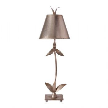 Elstead Flambeau Red Bell table lamp silver FB/REDBELL/TL SV