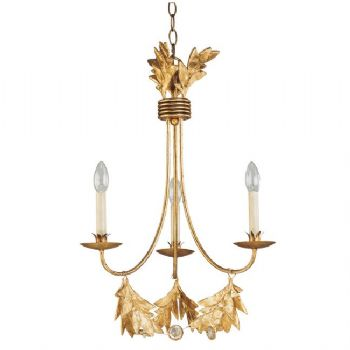 Elstead Flambeau Sweet Olive 3lt Chandelier in Gilded Gold