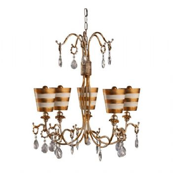 Elstead Flambeau Tivoli 5 light chandelier FB/TIVOLI5 GD