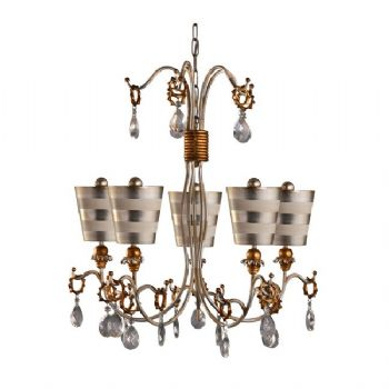 Elstead Flambeau Tivoli 5 light chandelier silver FB/TIVOLI5 SV